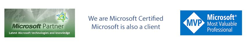 We have been Microsoft Certified for over two decades