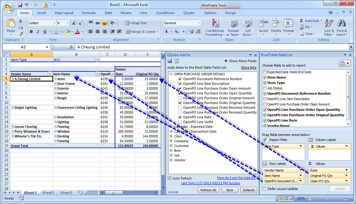 Here is an example of a Microsoft Excel Pivot Table
