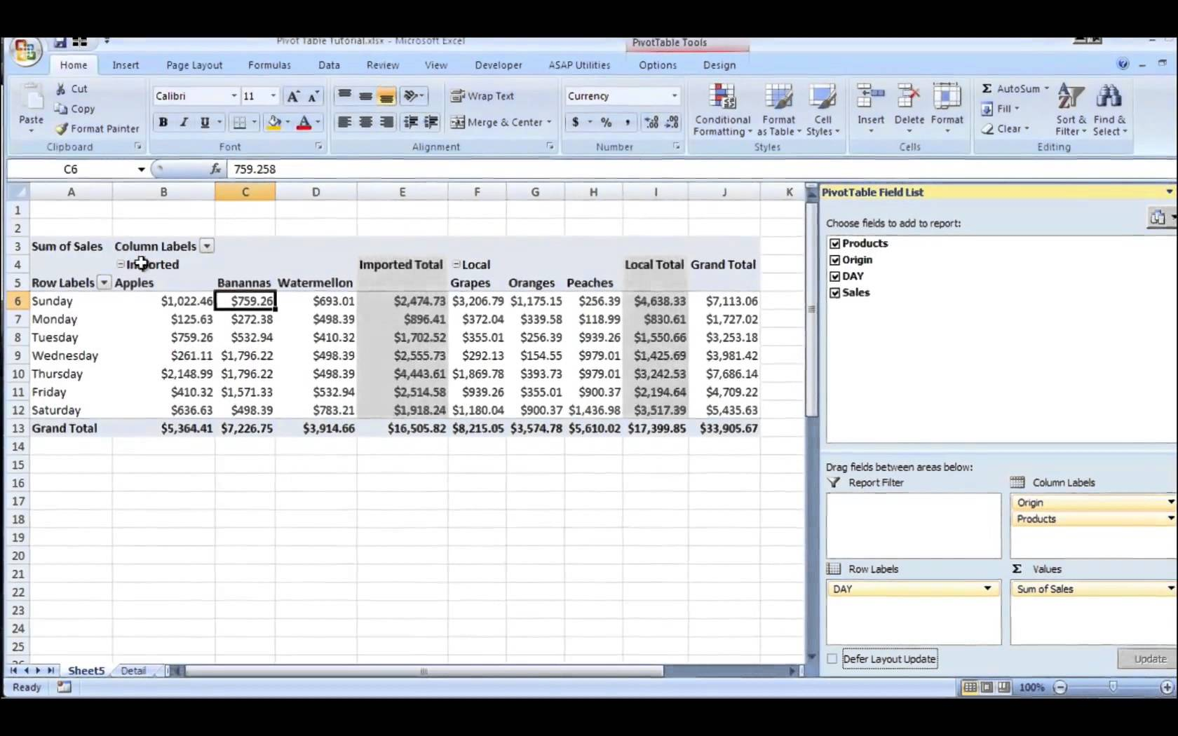 Pivot Table Example In Excel Brokeasshome Com