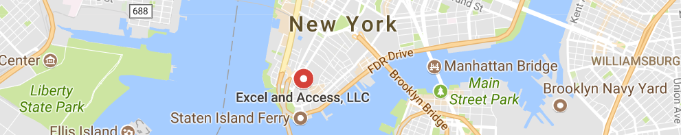 Excel and Access is on the map in Manhattan!!!
