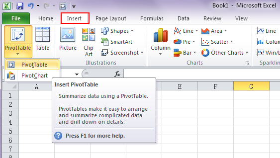 a really quick way to create a pivot-table