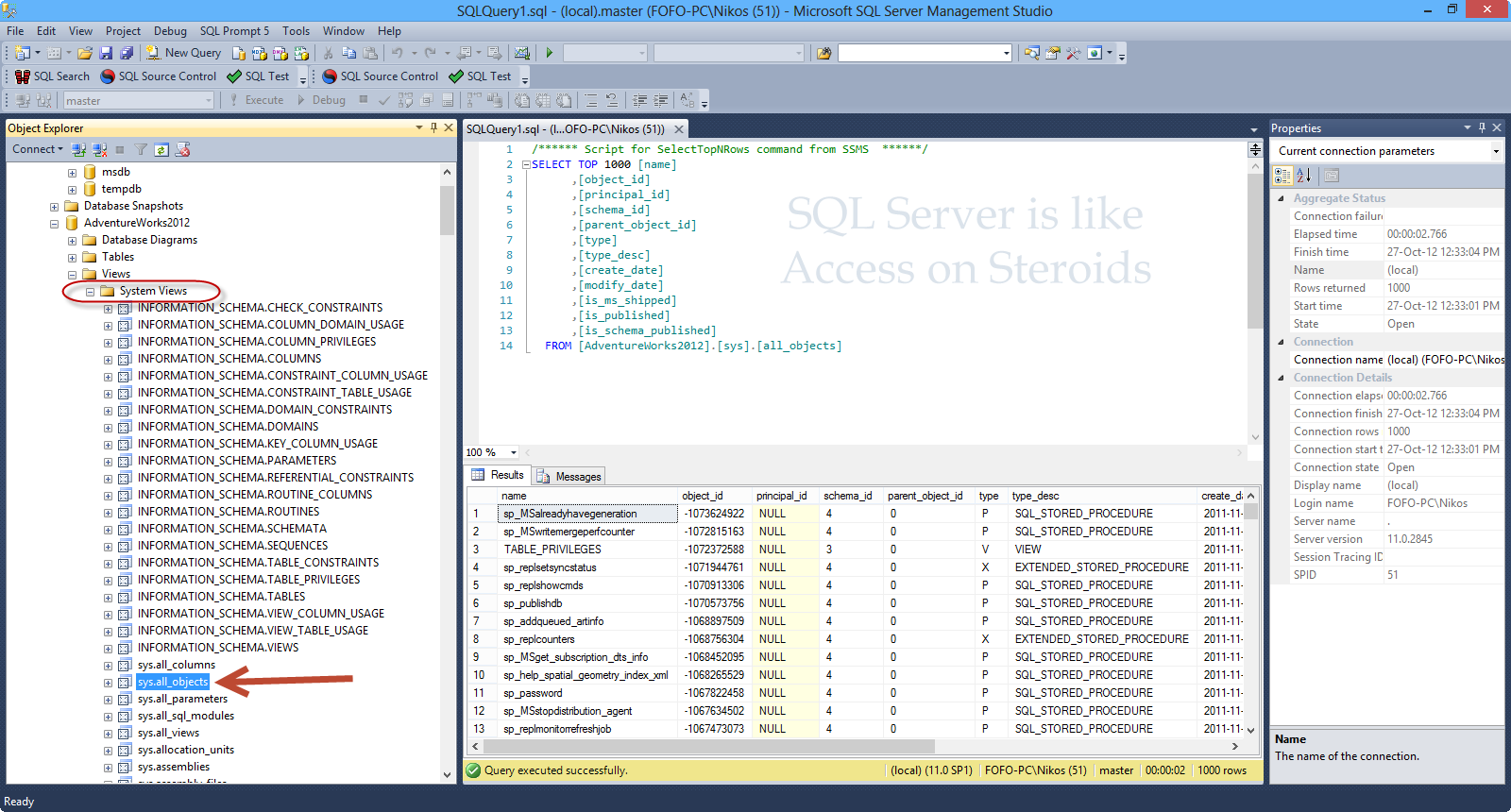 Excel and Access, LLC uses Microsoft SQL Server as a back-end to an Excel front-end