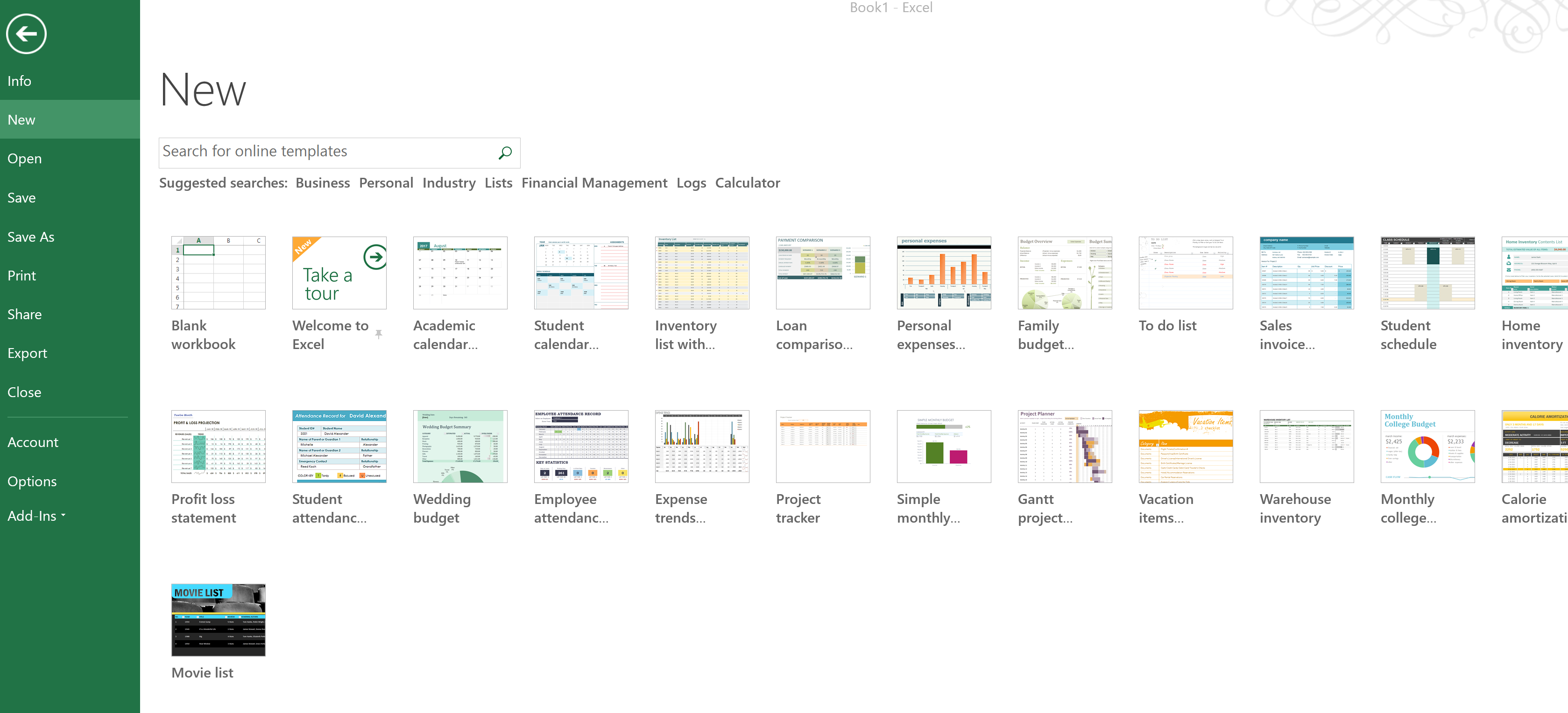 We developed 60% of the Microsoft Excel 2013 Templates for Microsoft