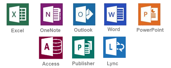 We work in all of the Microsoft Office 2016 applications