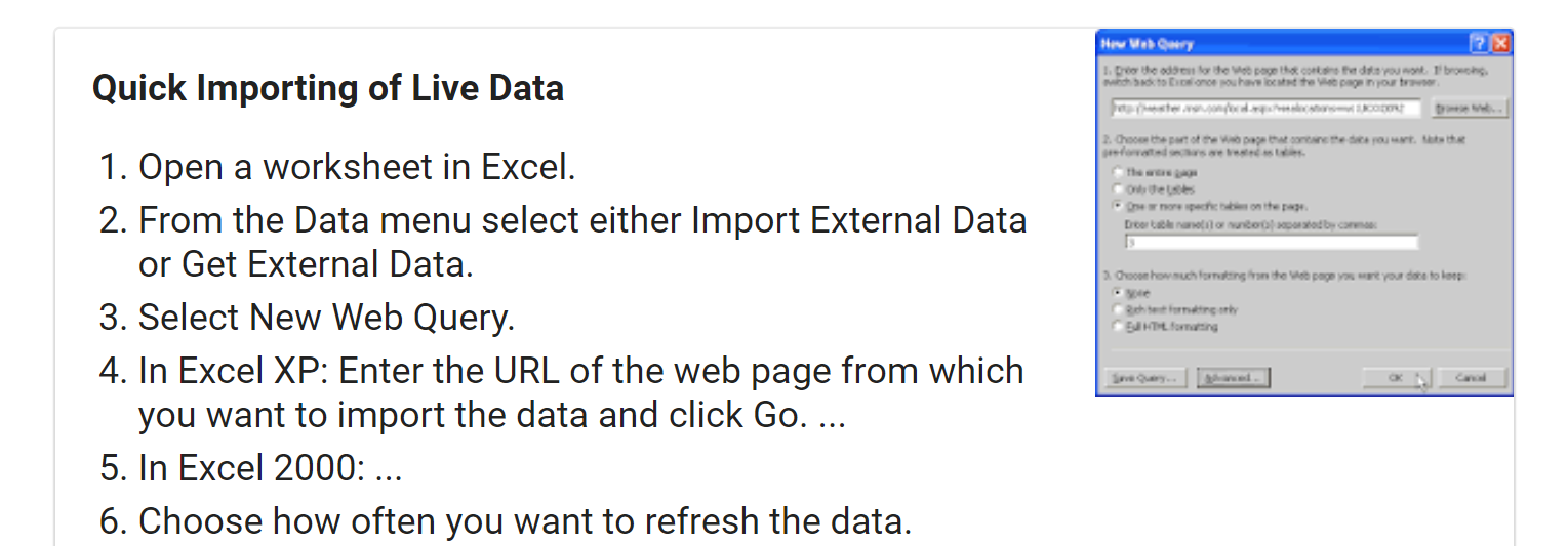 How To Automatically Pull Data From the Internet Into My