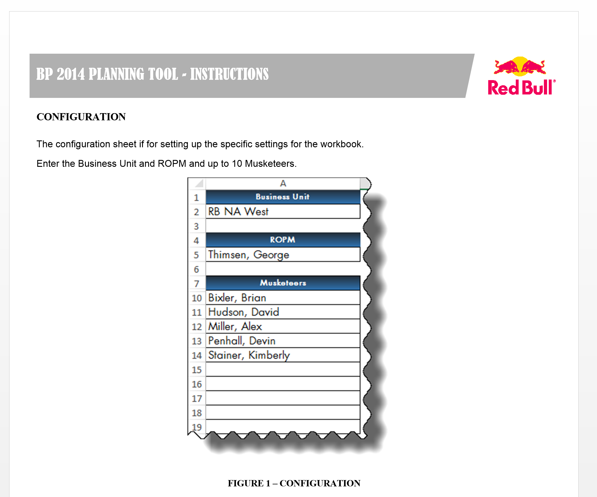 Excel and Access, LLC created the 2014 Red Bull Financial Planning application