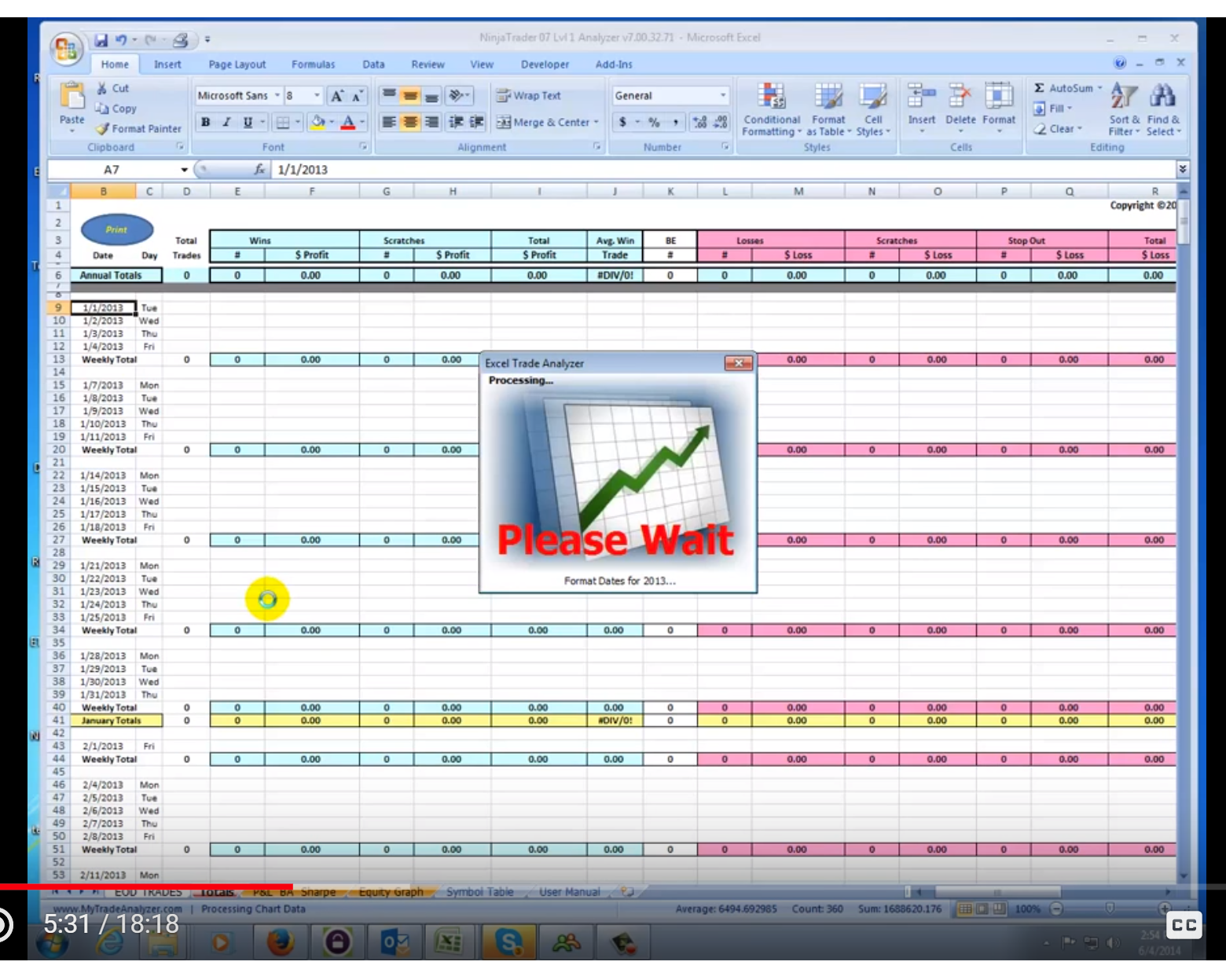 Use this Excel file to analyze your stock trades