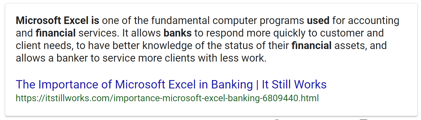Microsoft Excel for the Accounting Industry